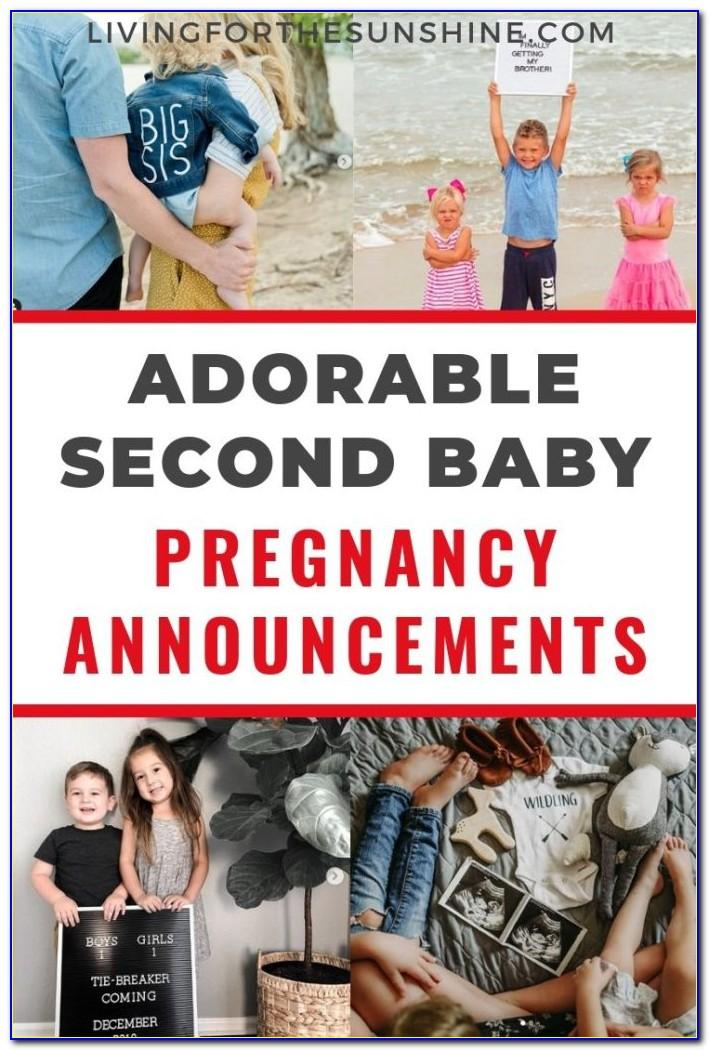 Second Baby Announcement Wording
