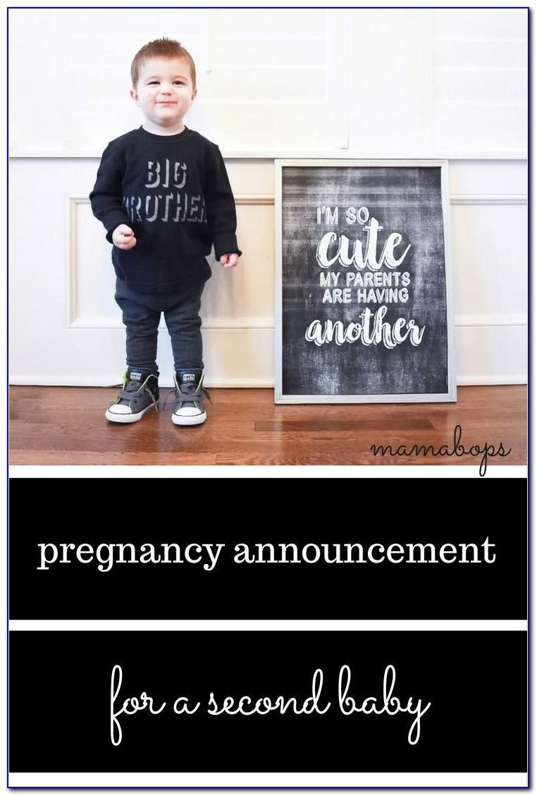 Second Baby Boy Announcement Wording