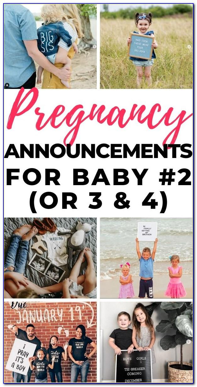Second Child Announcement Wording