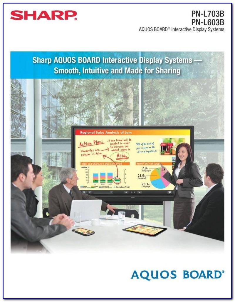 Sharp Aquos Board Pn L703b Brochure