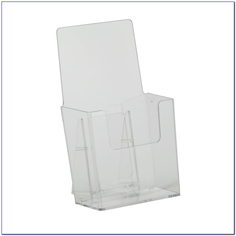 Single Pocket Acrylic Brochure Holder For Wall