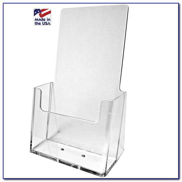 Single Pocket Brochure Holder For Tabletops