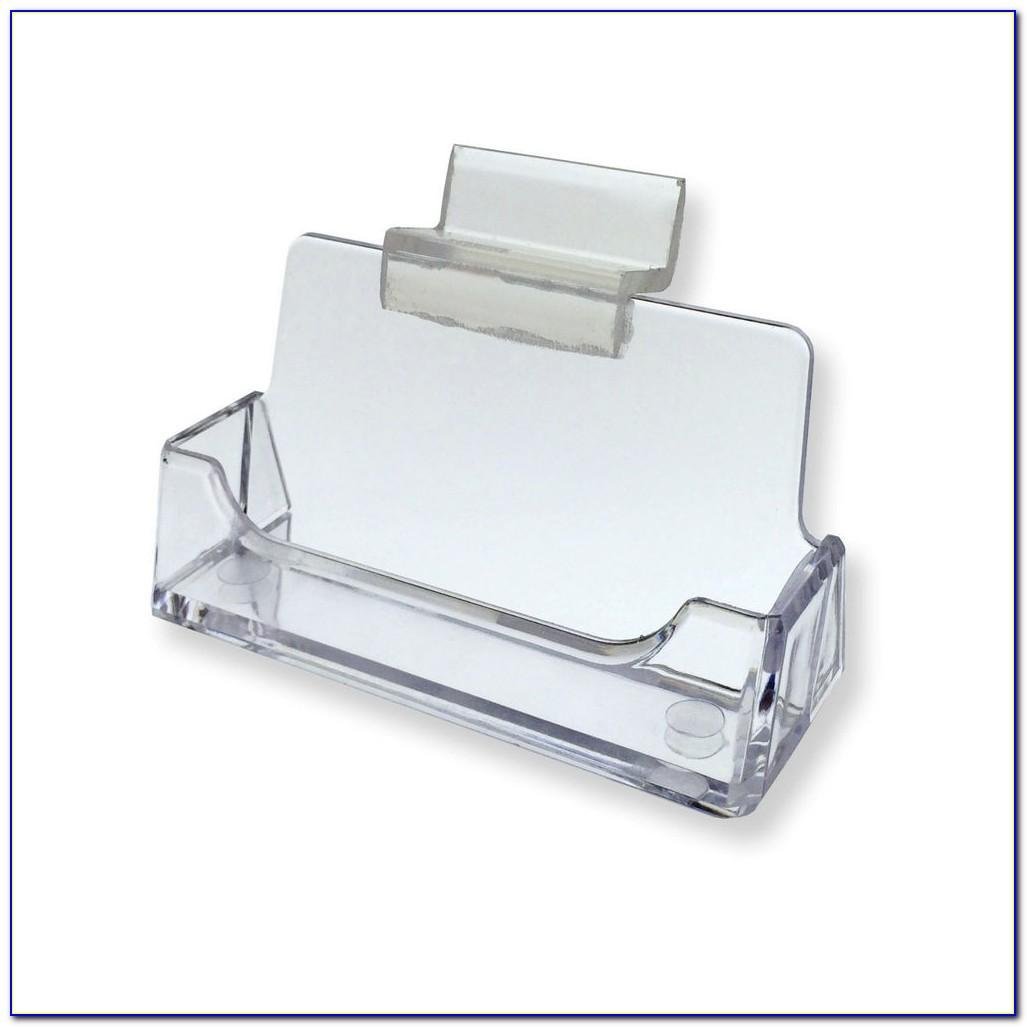 Slatwall Business Card Holder