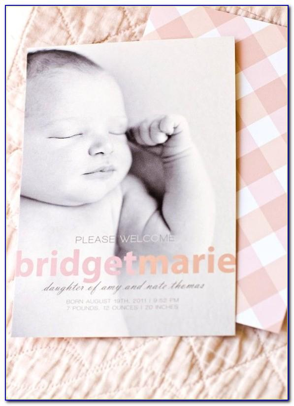 Snapfish Birth Announcement Cards