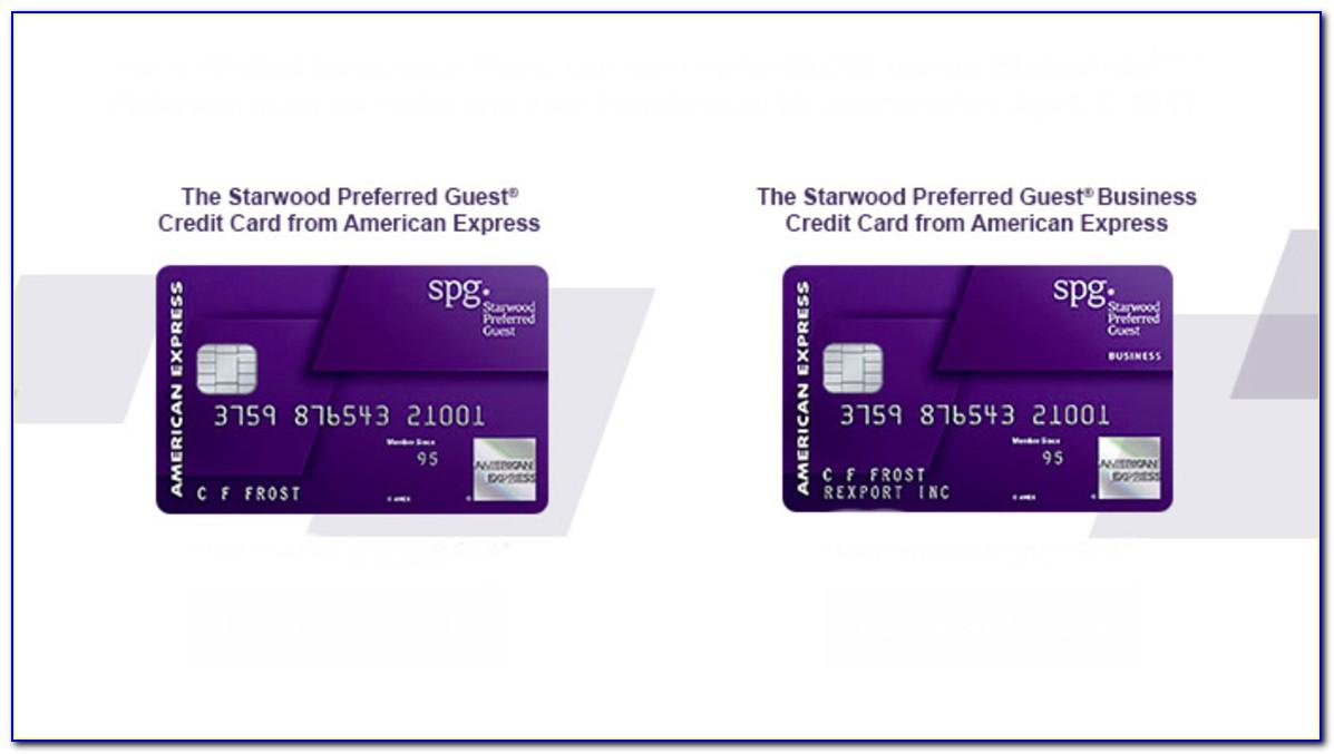 Spg Business Card Amex