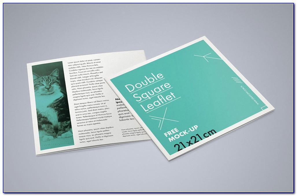 Square Brochure Mockup Template Psd
