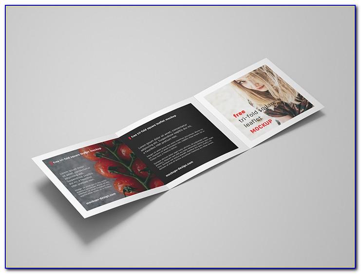 Square Tri Fold Brochure Dimensions