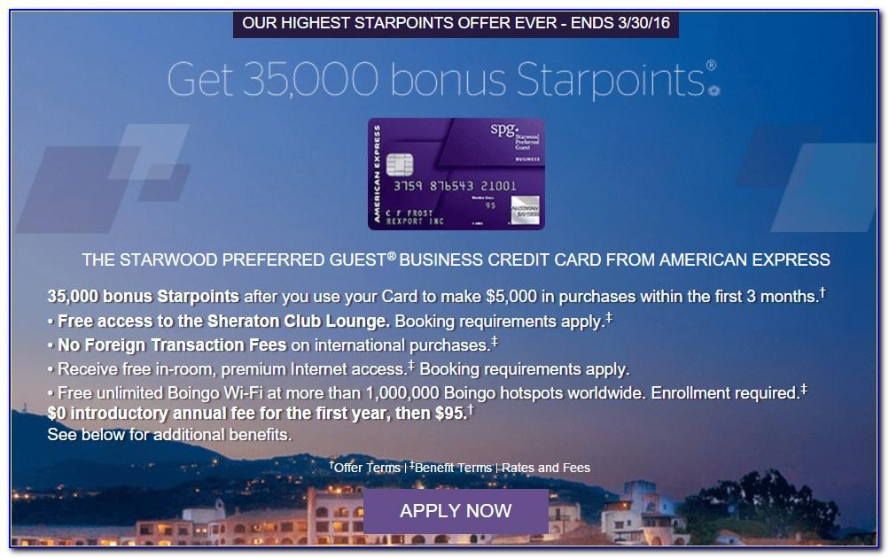 Starwood Business Card Review