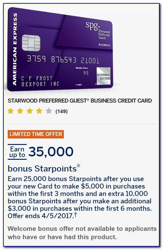 Starwood Preferred Guest Business Card