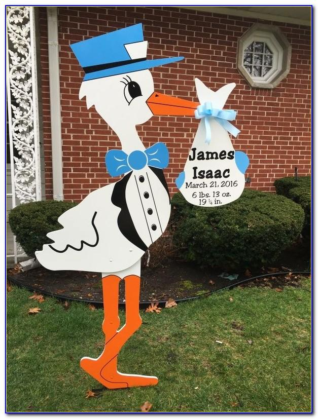Stork Baby Announcement Yard Sign