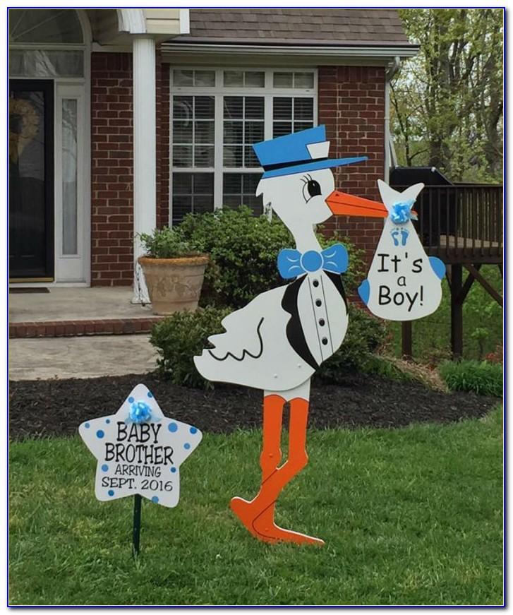 Stork Baby Announcement Yard