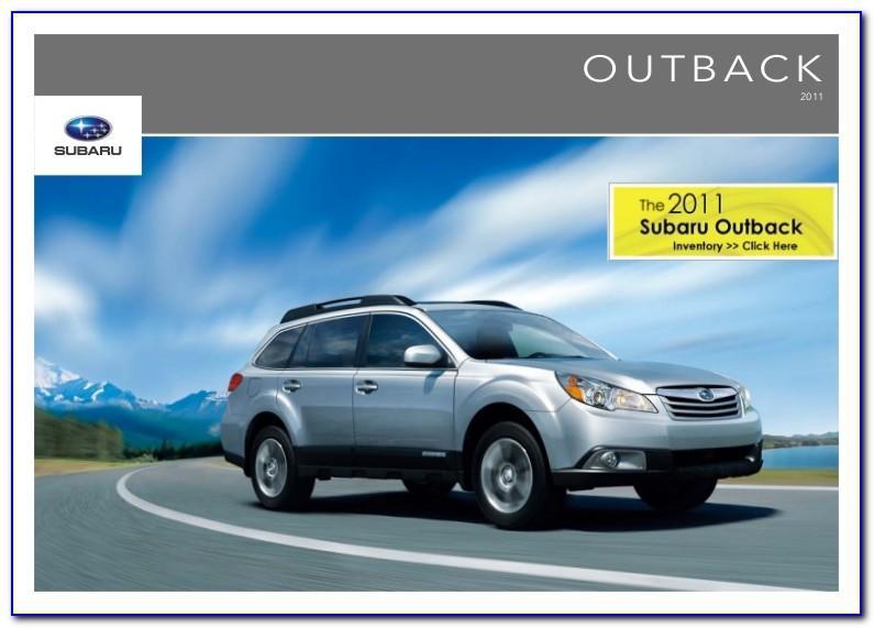 Subaru Outback Brochure 2018 Pdf
