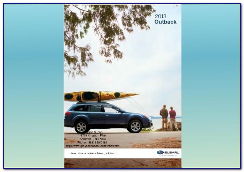 Subaru Outback Brochure Canada
