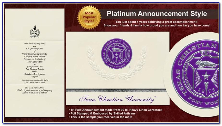 Tcu Graduation Announcements