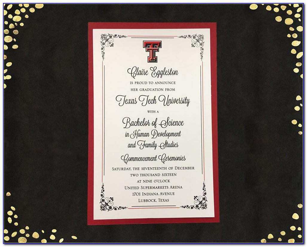 Texas A&m College Graduation Announcements