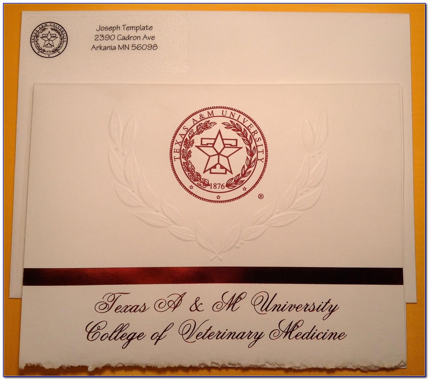 Texas A&m Commerce Graduation Announcements
