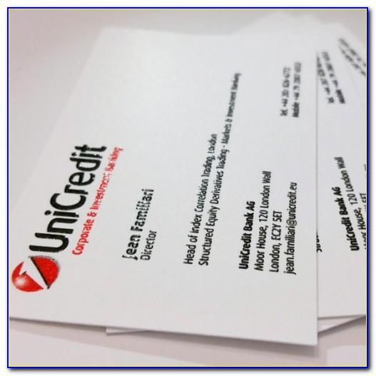Thermography Business Cards Los Angeles
