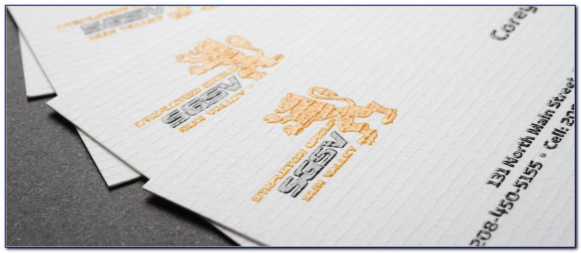 Thermography Business Cards Uk