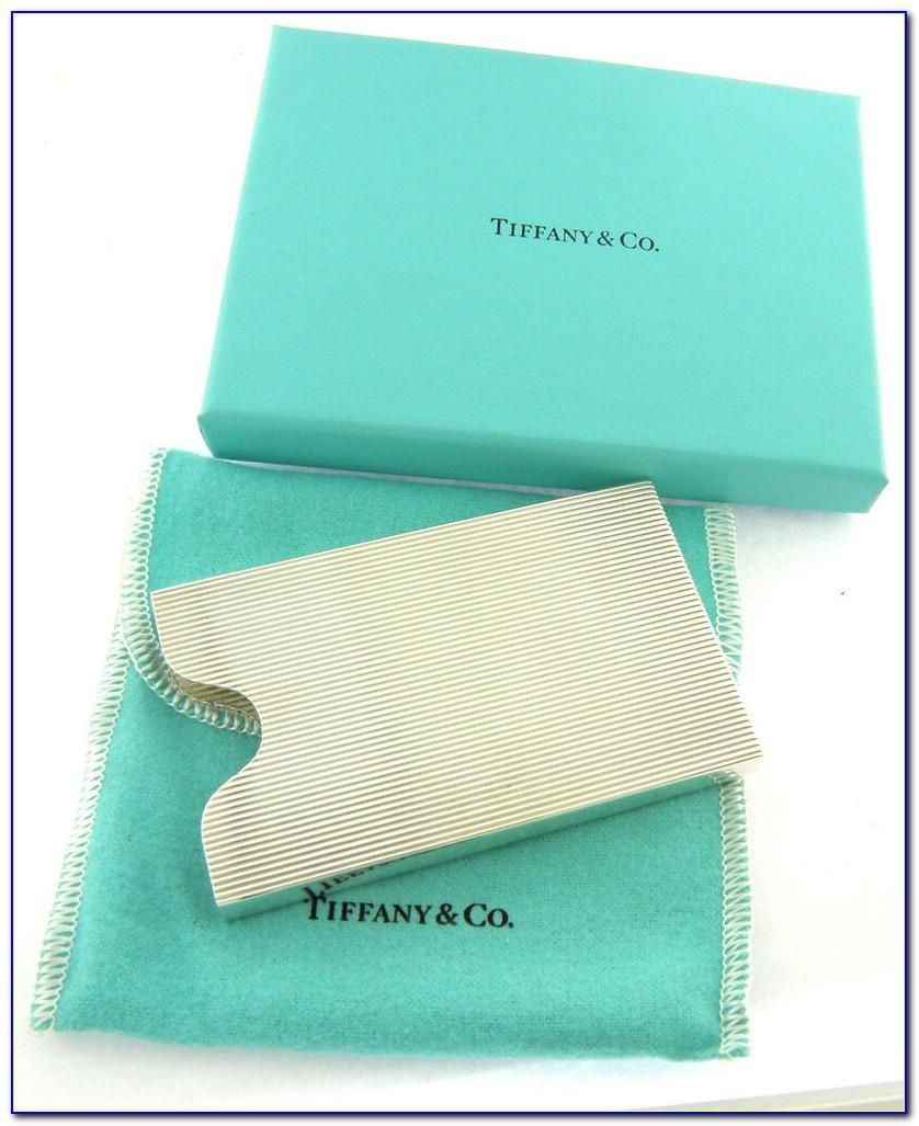 Tiffany Business Card Holder Desk