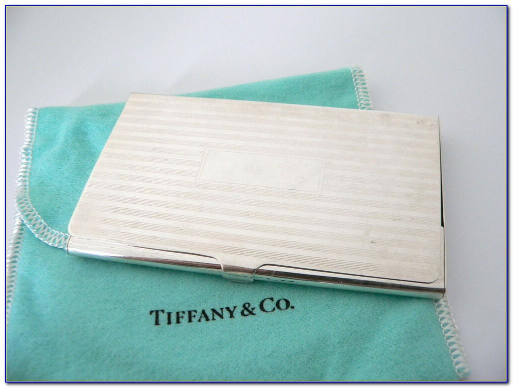 Tiffany Business Card Holder Leather