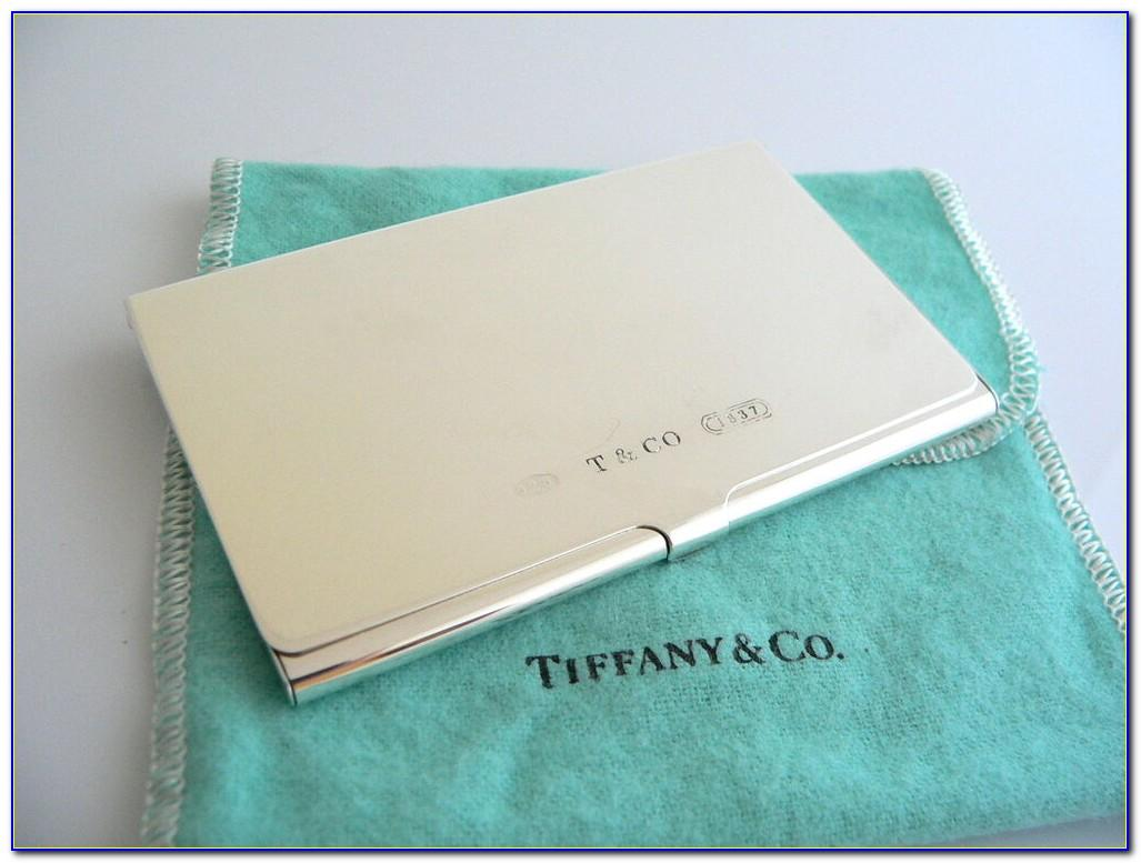 Tiffany Business Card Holder Silver