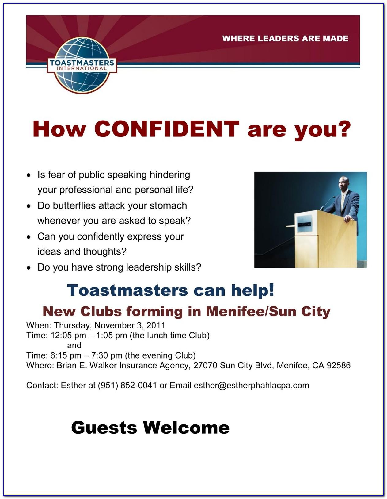 Toastmasters Club Business Cards