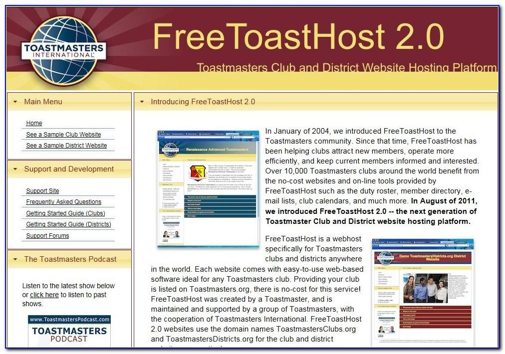 Toastmasters International Business Cards