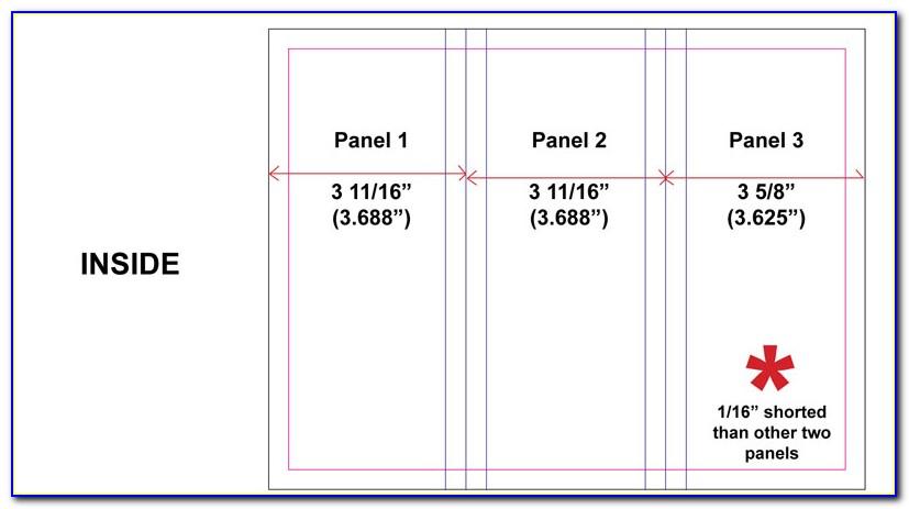 Tri Fold Brochure Dimensions Mm