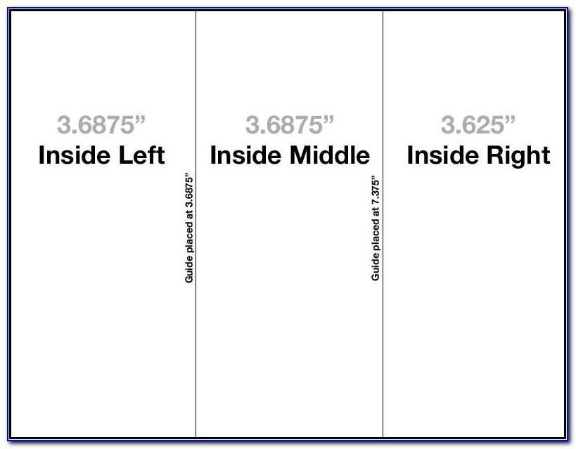 Tri Fold Brochure Indesign Setup