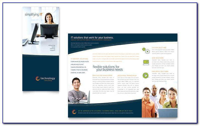 Tri Fold Brochure Microsoft Word Template