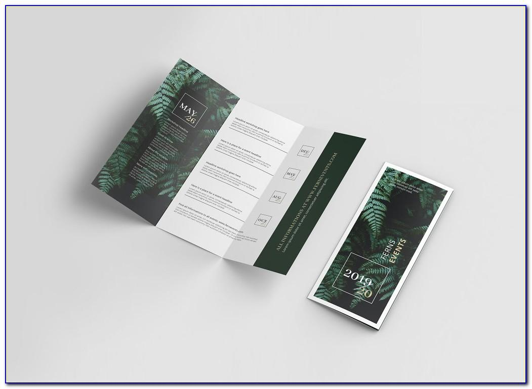 Tri Fold Brochure Mockup Download