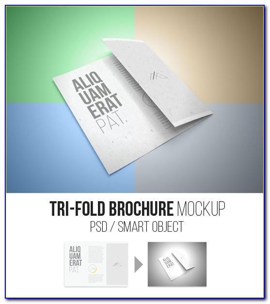 Tri Fold Brochure Mockup Psd Download