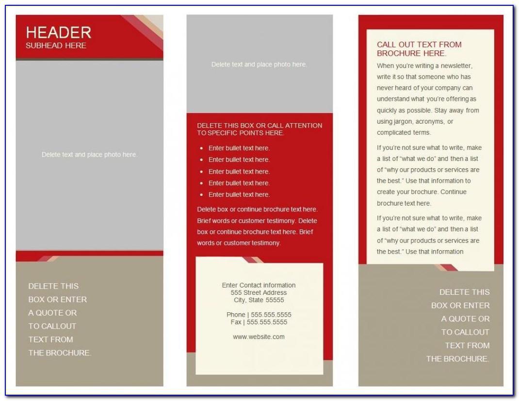 Tri Fold Brochure Template Free Ppt