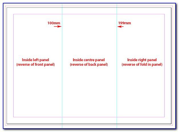 Tri Fold Brochure Template Indesign A4