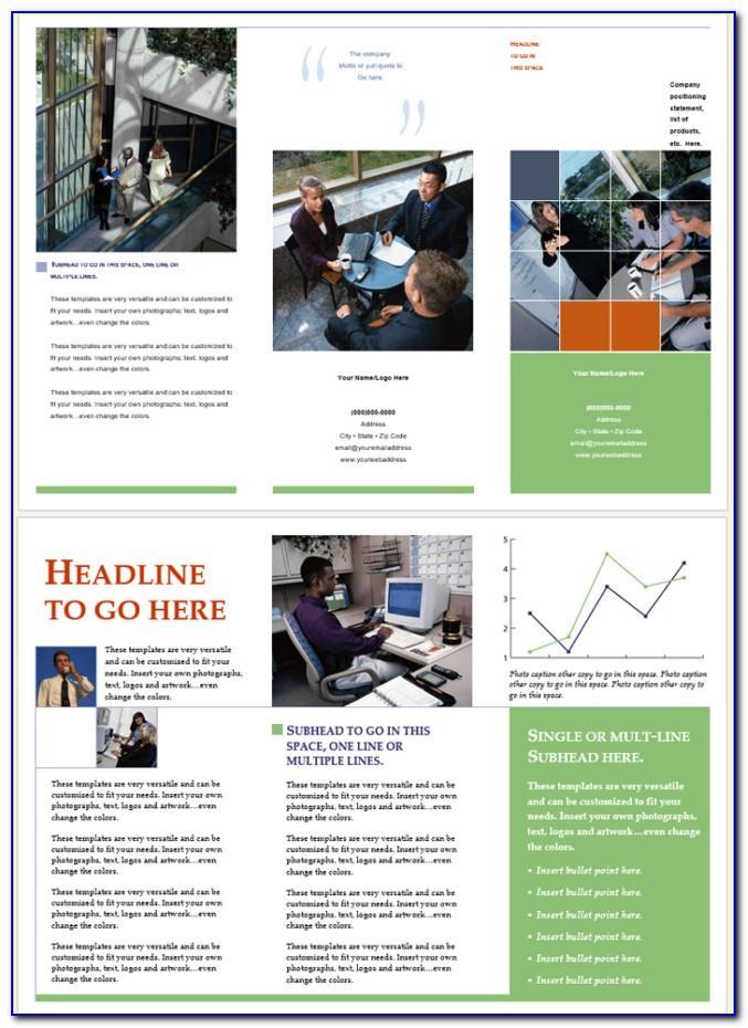 Tri Fold Brochure Templates Free Microsoft Word