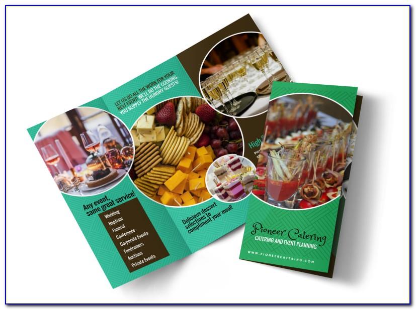 Tri Fold Catering Brochure Template