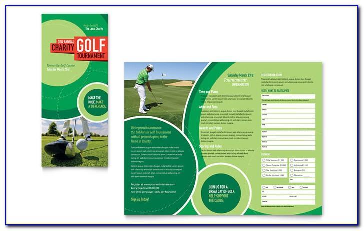 Tri Fold Golf Tournament Brochure