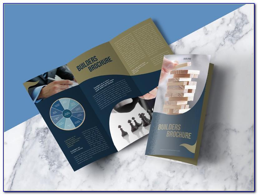 Trifold Brochure Mockup A4