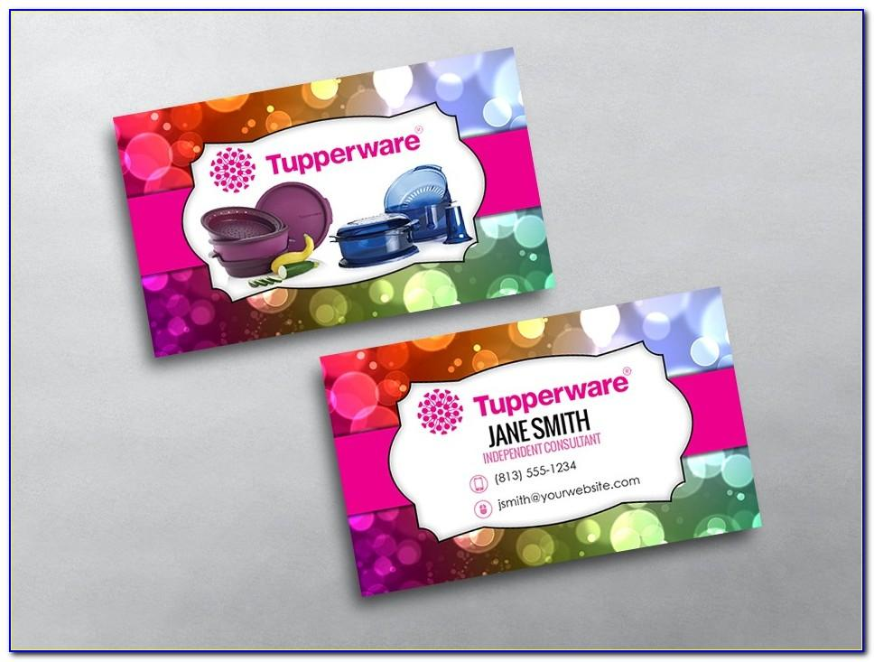 Tupperware Business Card Images