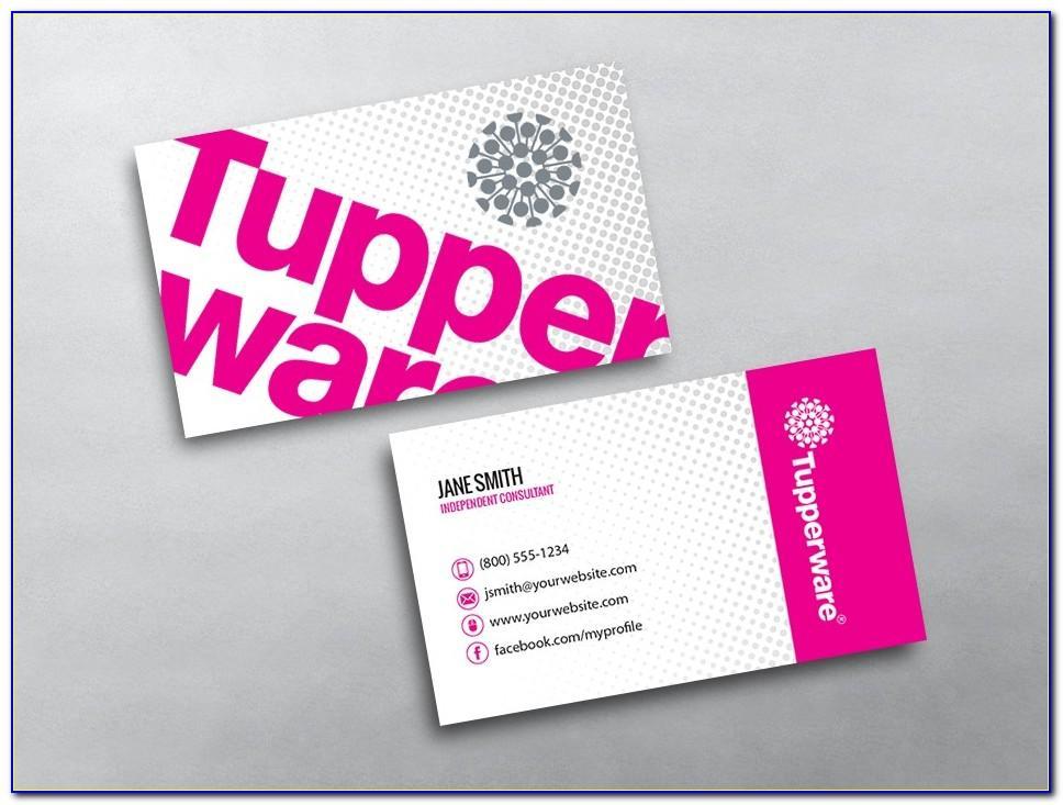 Tupperware Consultant Business Cards