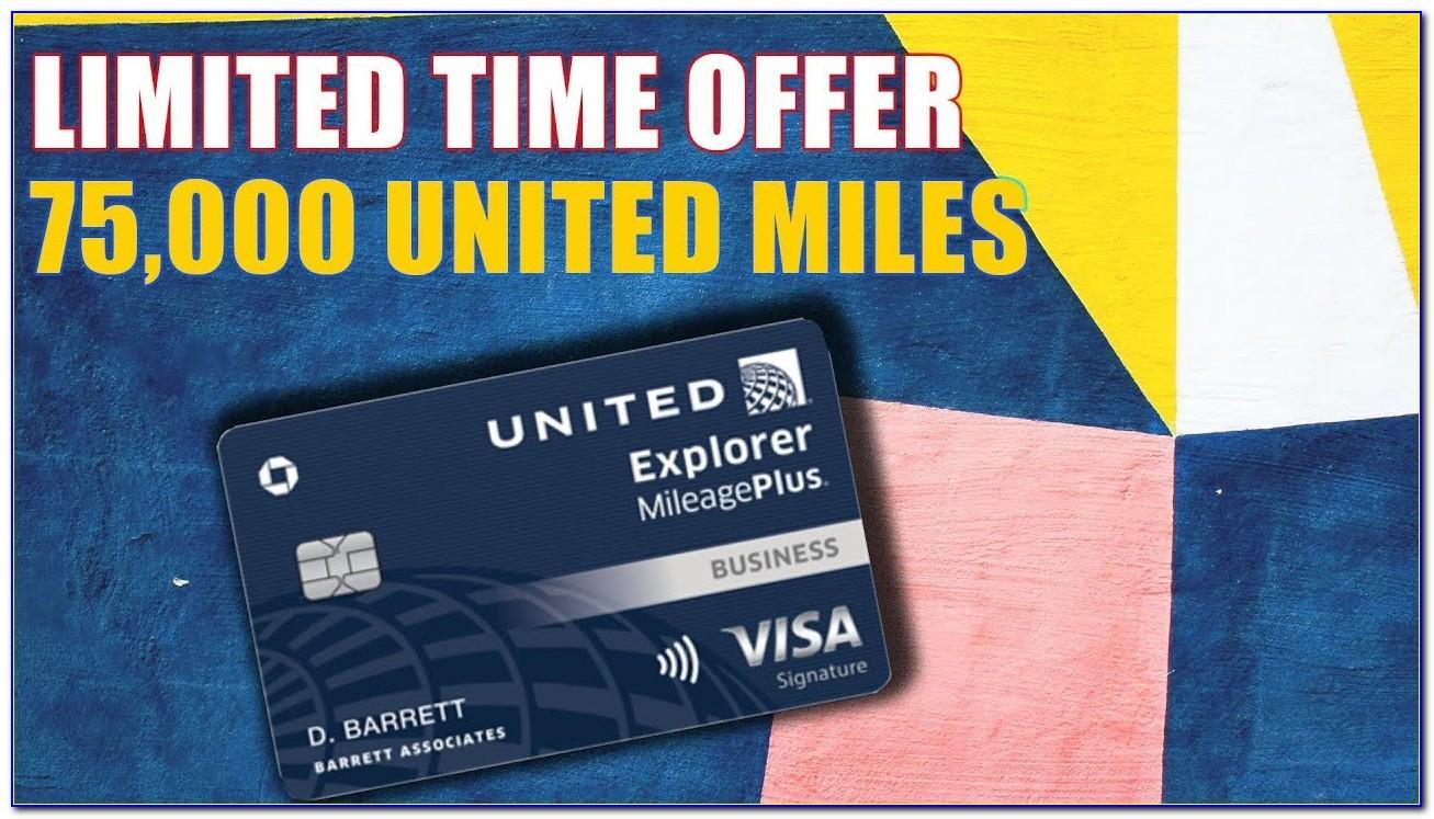 United Explorer Business Card 100k