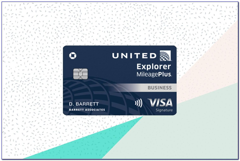 United Explorer Mileageplus Business Card