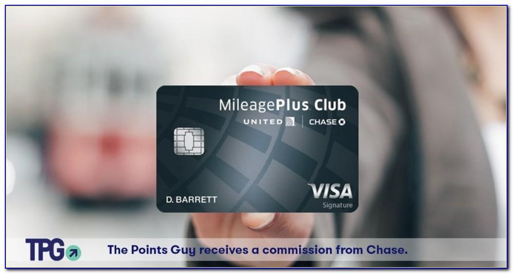 United Mileageplus Club Business Card