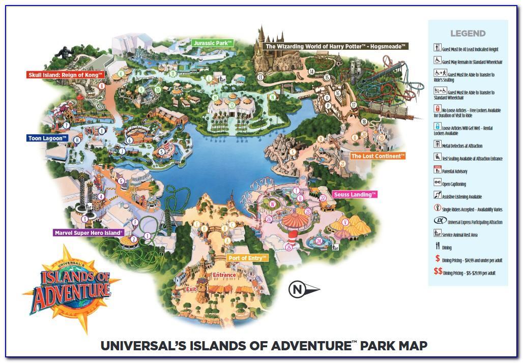 Universal Studios Orlando Brochure 2018