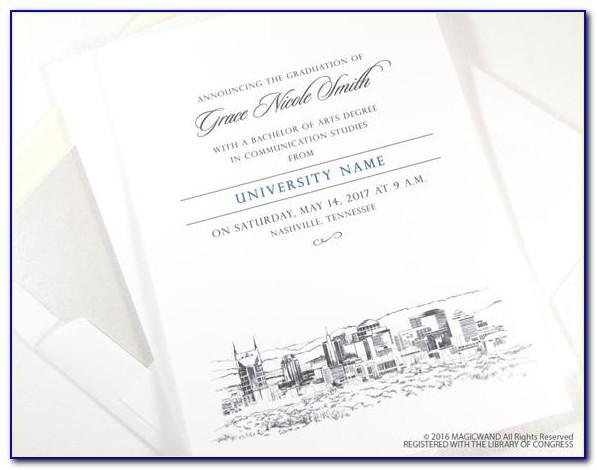 Vanderbilt Graduation Announcements