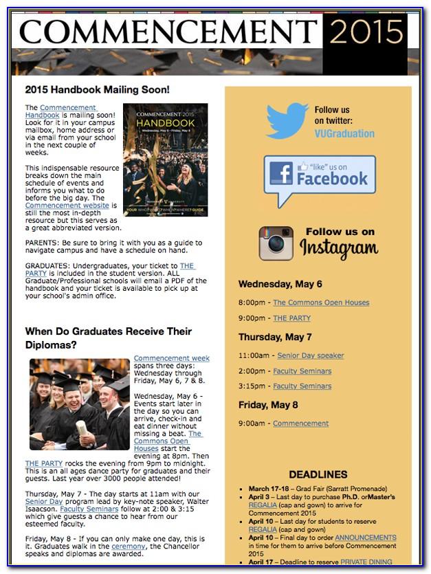 Vanderbilt University Graduation Announcements