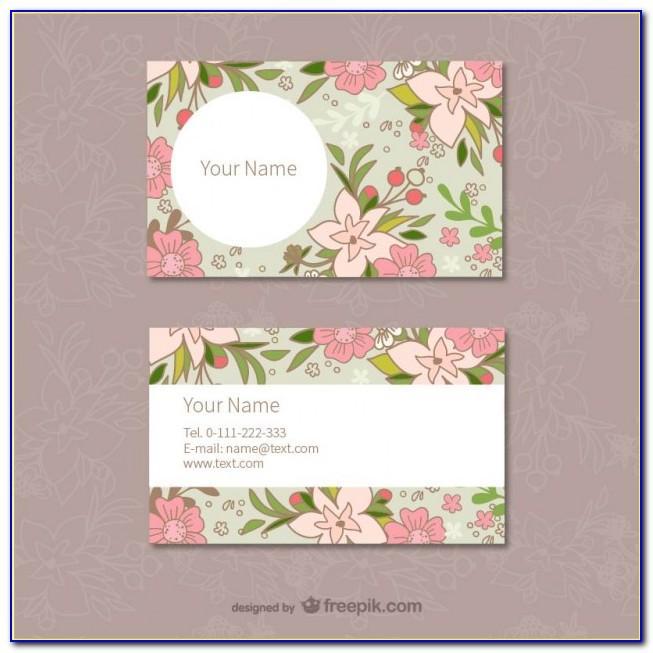 Vector Set Floral Business Cards