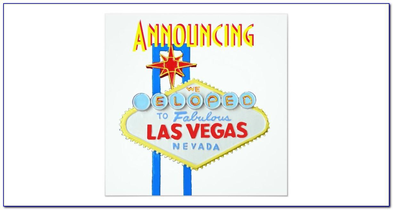 Vegas Elopement Announcement