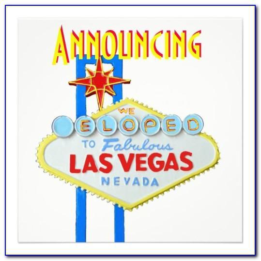 Vegas Elopement Announcements