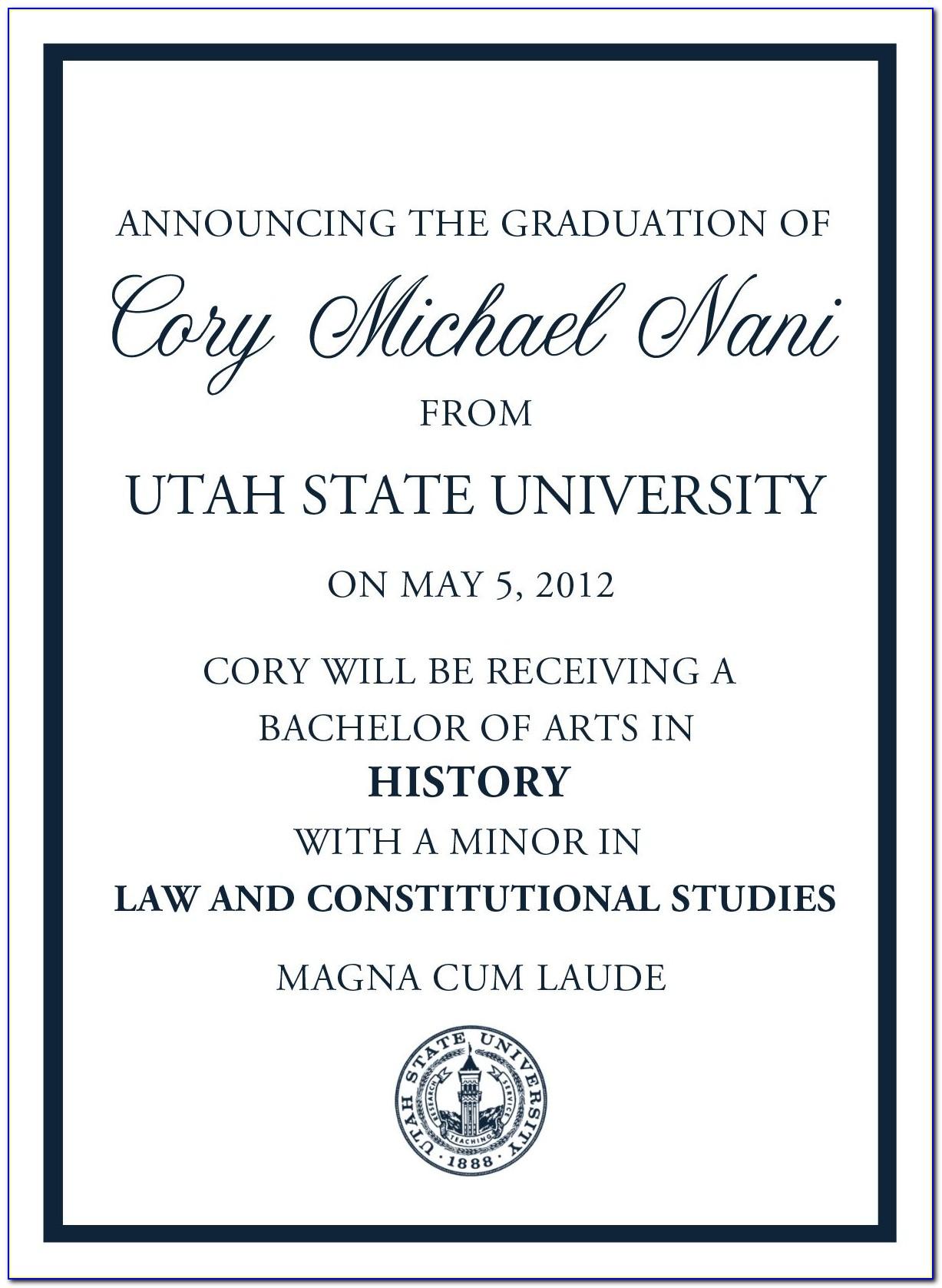 Vertical Graduation Announcements